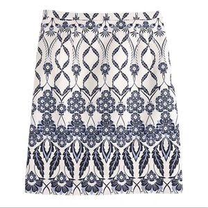 J. Crew Trellis Floral Midi Skirt